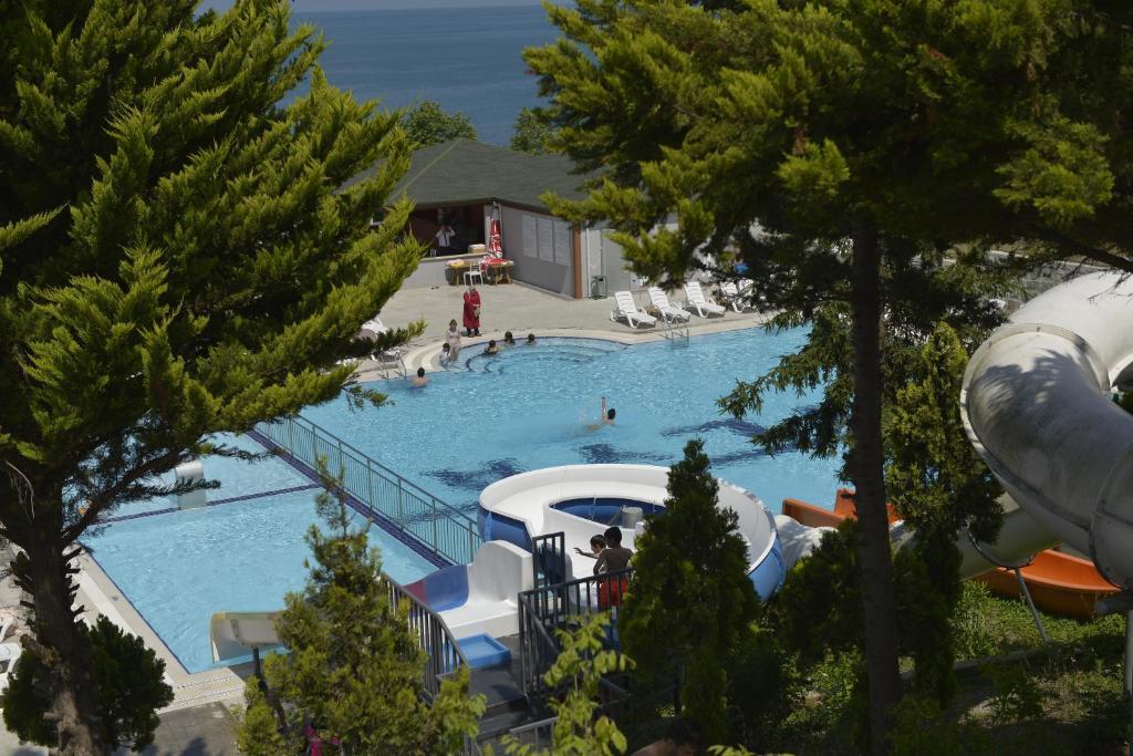 منظر المسبح في فندق منتجع تيليا او بالجوار