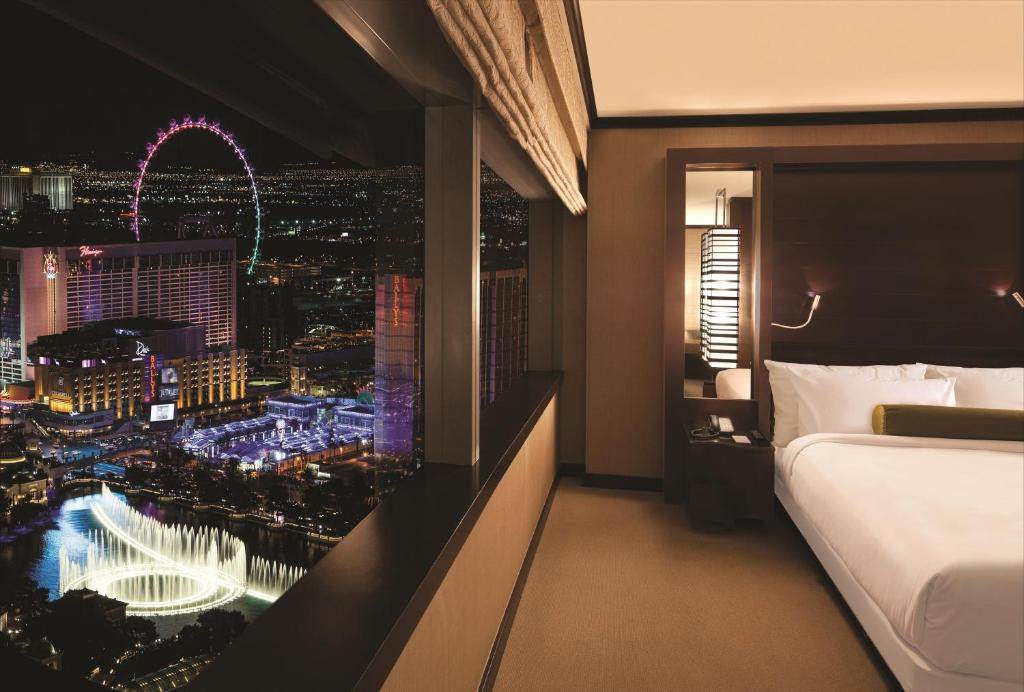 A room at Vdara Hotel & Spa.