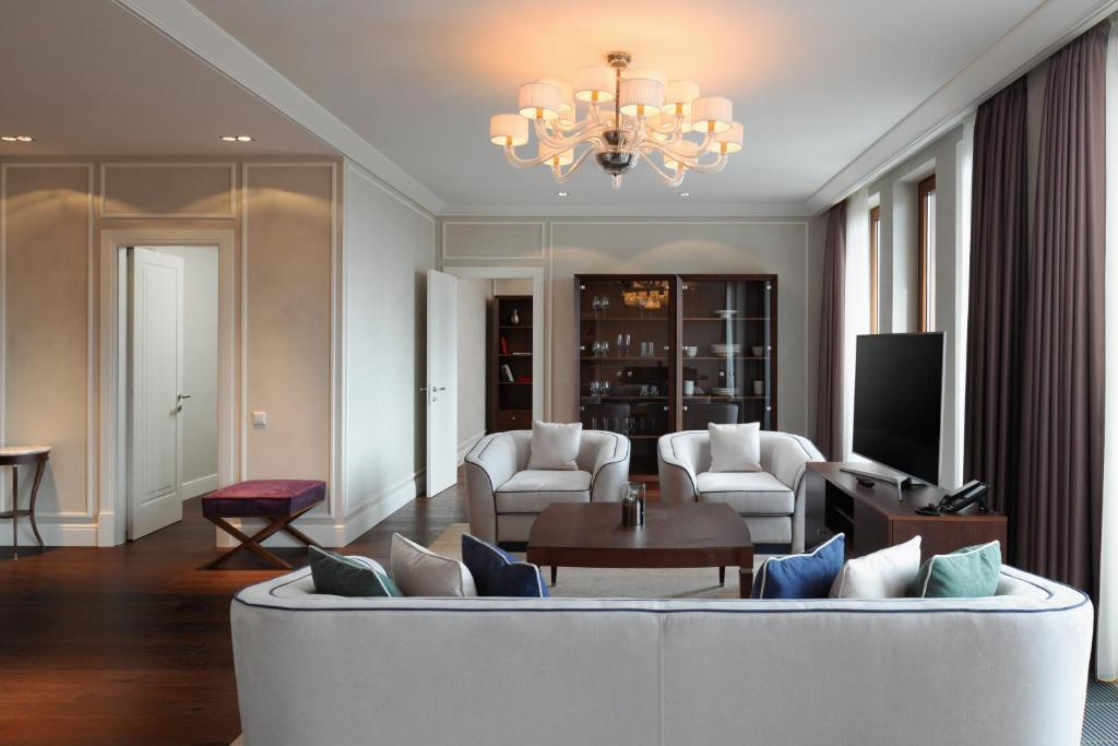 Гостиная зона в Резиденции Москва - Сервисные Апартаменты