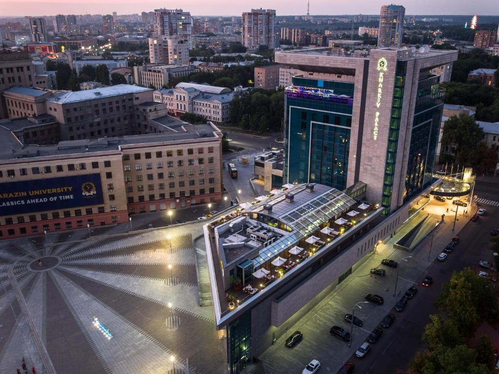 Apgyvendinimo įstaigos Kharkiv Palace Hotel vaizdas iš viršaus