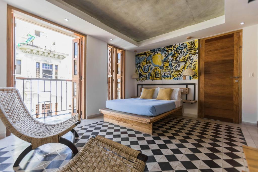 A bed or beds in a room at Residencia Santa Clara