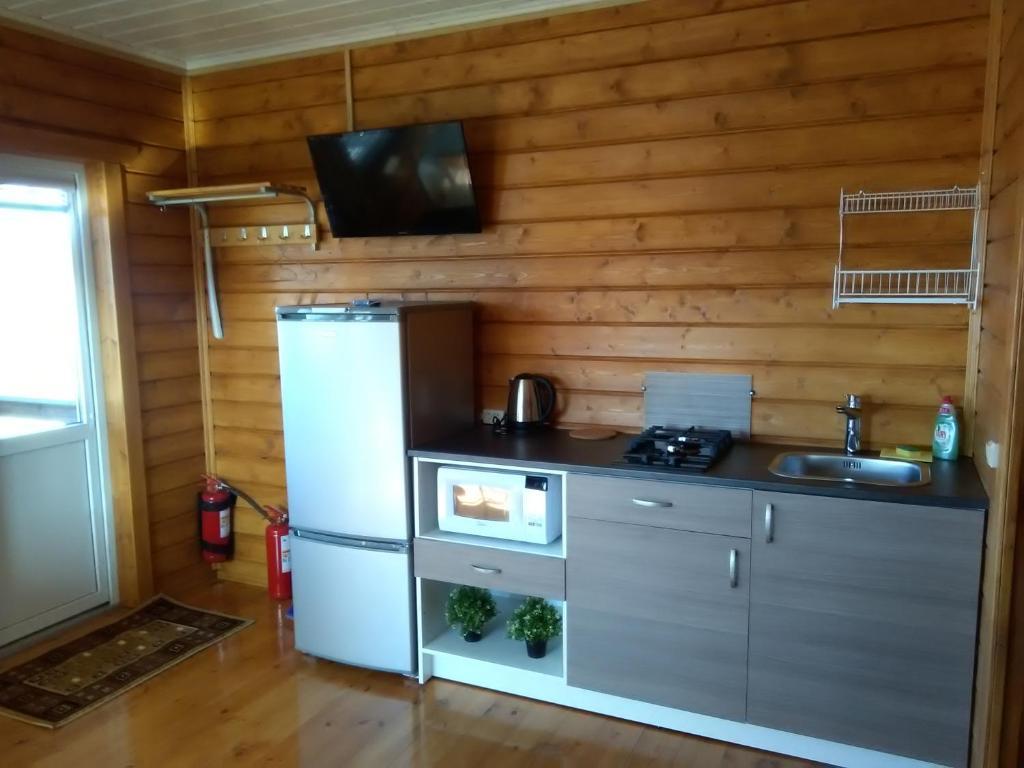 Кухня или мини-кухня в Гостевой дом Белые Росы