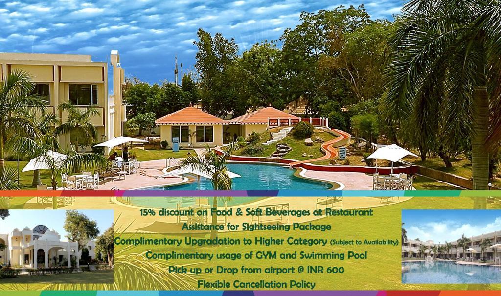 The swimming pool at or near Mint Bundela Resort