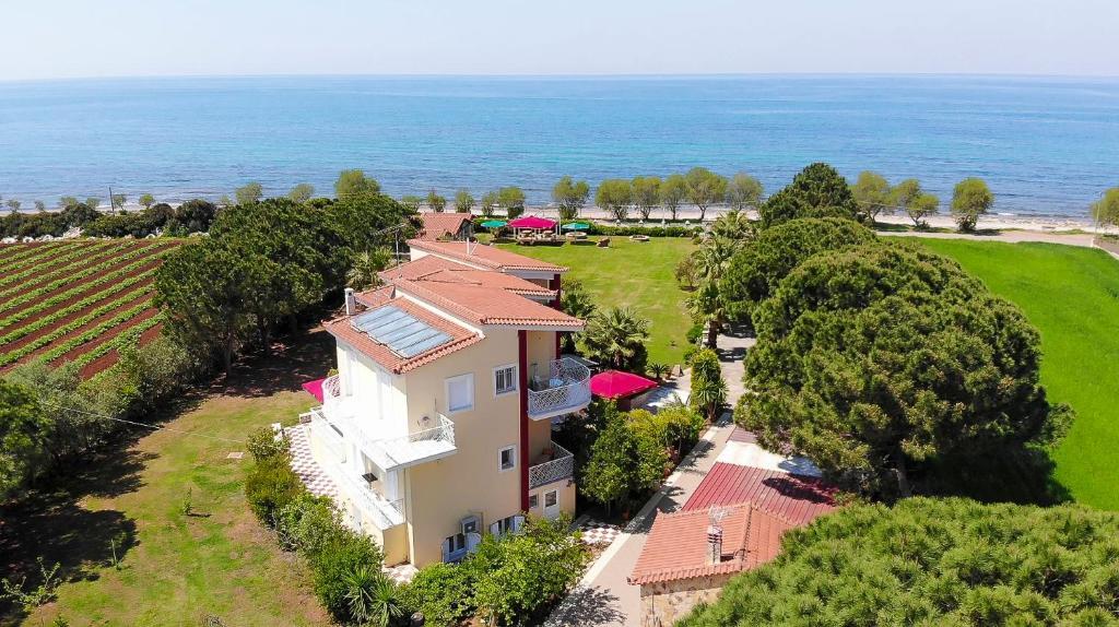 A bird's-eye view of Irida Beach Resort Suites