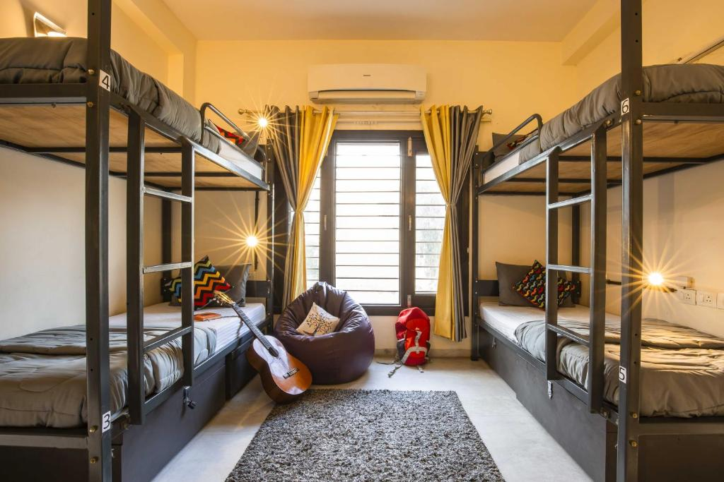 A bunk bed or bunk beds in a room at Zostel South Delhi