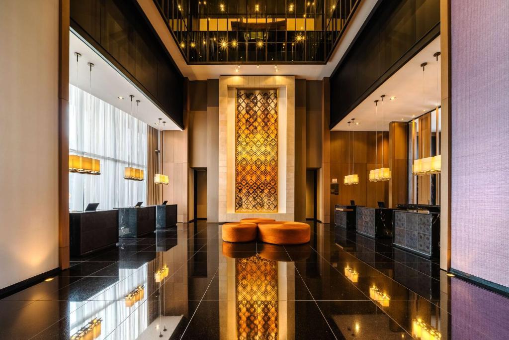 O saguão ou recepção de Grand Hyatt Bogota