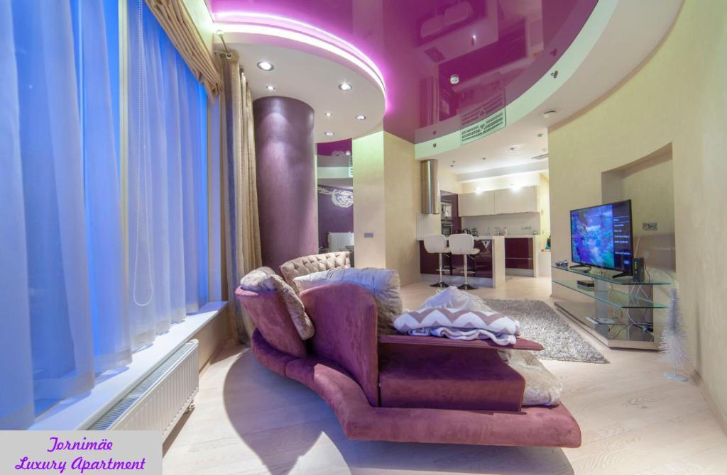 Oleskelutila majoituspaikassa Tornimäe Luxury Apartment