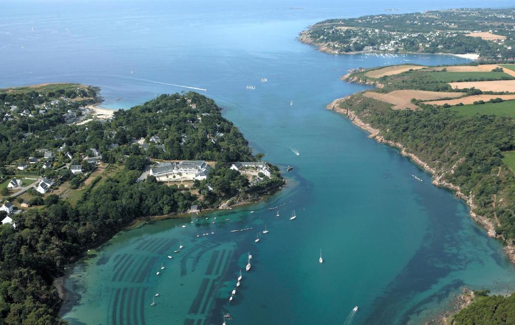 Blick auf Domaine Maritime de Beg Porz aus der Vogelperspektive