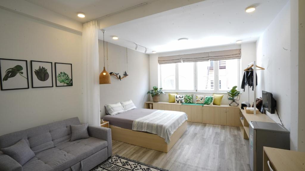 Phòng Giường Đôi Deluxe với Giường phụ