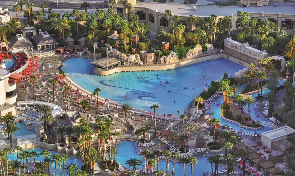 A bird's-eye view of Mandalay Bay