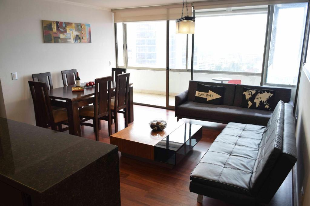 Zona de estar de Kennedy Premium Apartments
