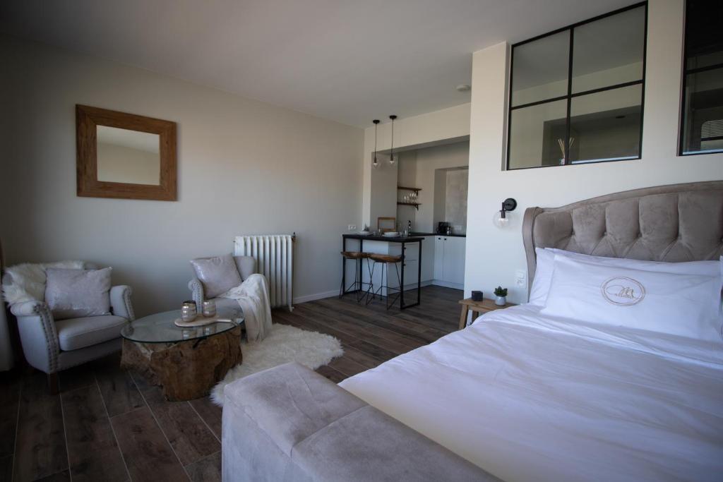 Ein Bett oder Betten in einem Zimmer der Unterkunft studio Modine