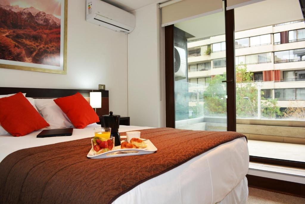 Cama o camas de una habitación en Sunset Apartments