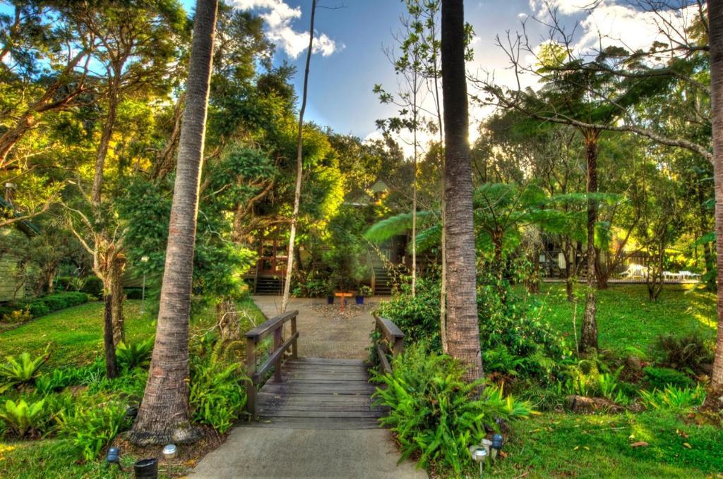 A garden outside Broken River Mountain Resort