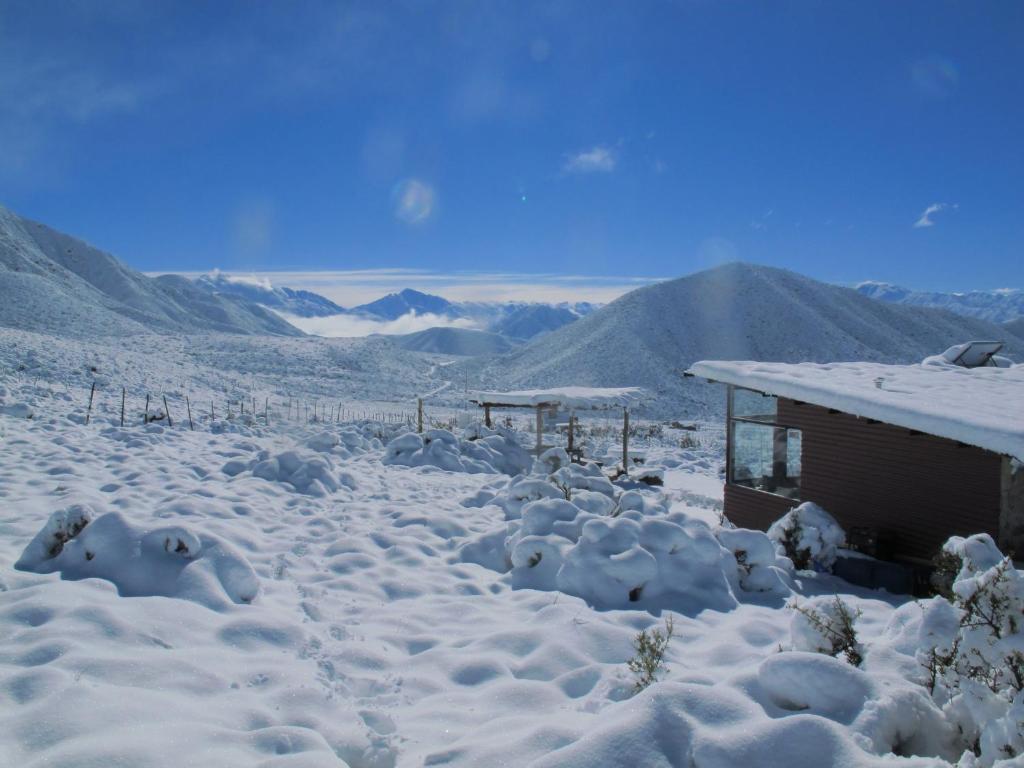 Refugio La Ramada durante el invierno
