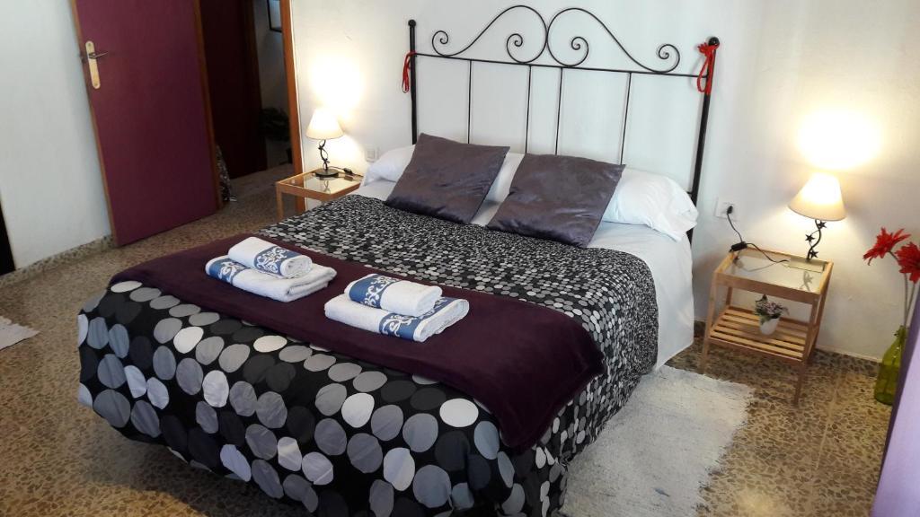 "A bed or beds in a room at Casa ""la Botica"""