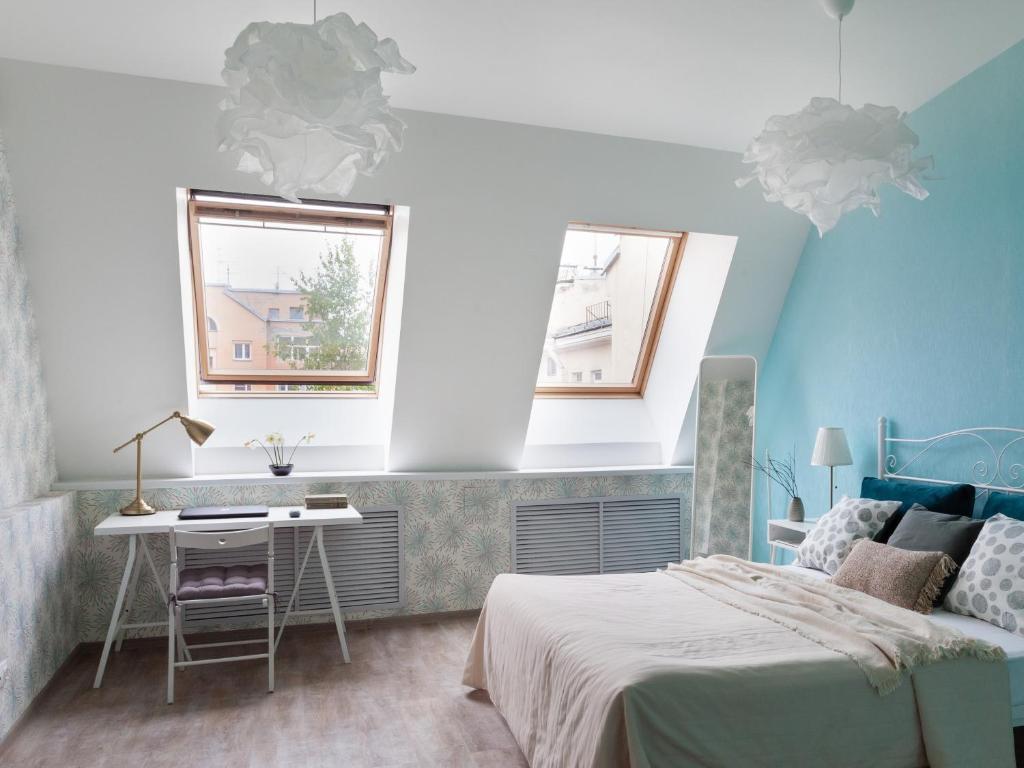 Shaulis Apartment on Nevsky 117 객실 침대
