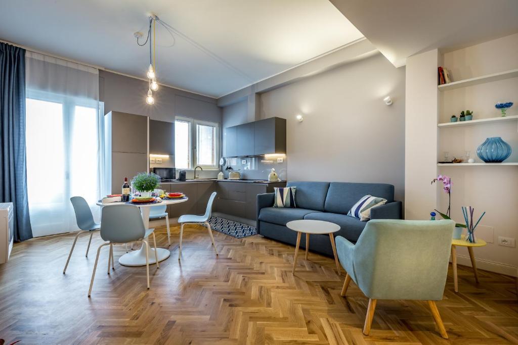 Een zitgedeelte bij Zianora Apartments