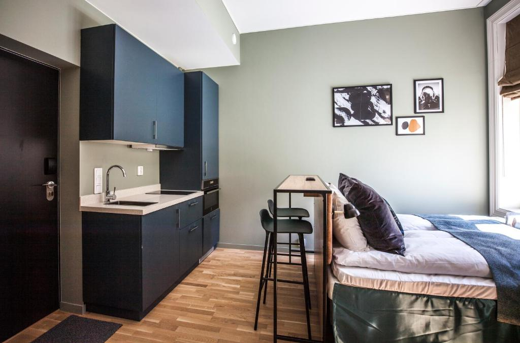A kitchen or kitchenette at Frogner House Apartments - Arbins gate 3