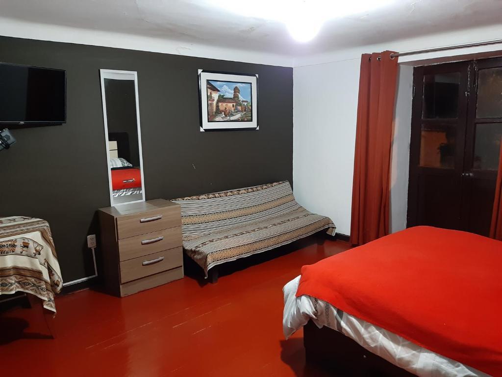 Cama o camas de una habitación en Gringo's House