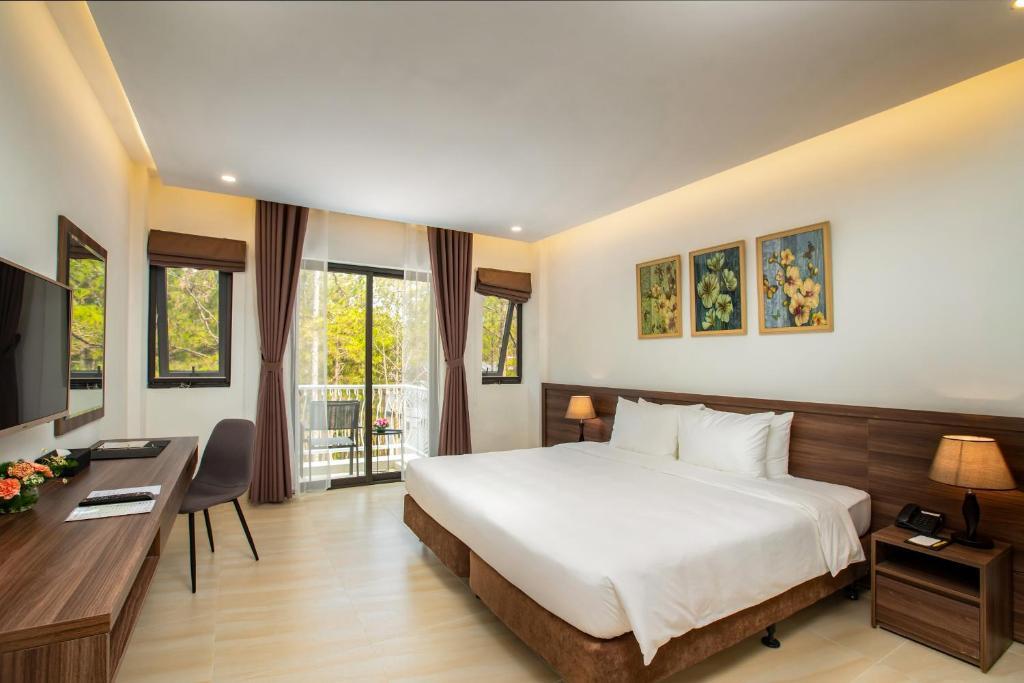 Phòng Premier 2 Giường Đơn với Tầm nhìn ra Hồ