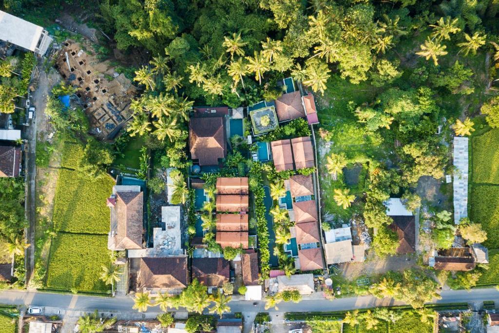 Vue panoramique sur l'établissement Bije Suite Villa Ubud