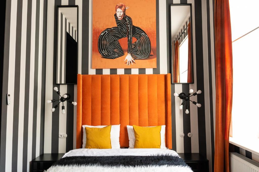 Cama o camas de una habitación en Baby Lemonade Hotel