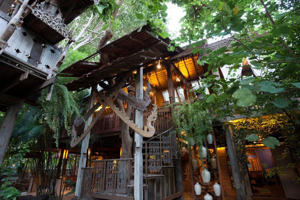 A bird's-eye view of Baan Boo Loo Village