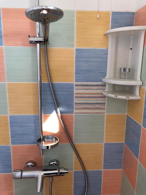 A bathroom at Azovskaya Rivera