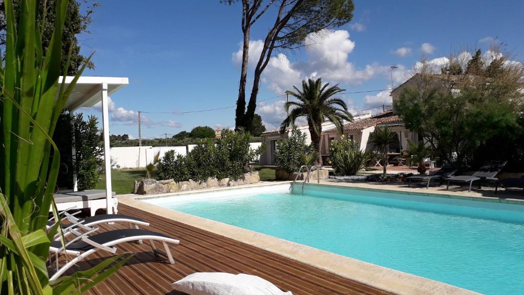 Piscine de l'établissement Mas Languedocien ou située à proximité