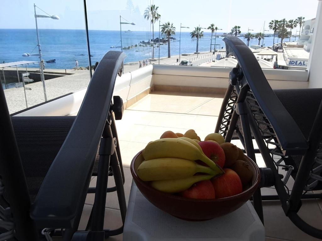 A balcony or terrace at Seaside Luxury Apartment Lighthouse 47