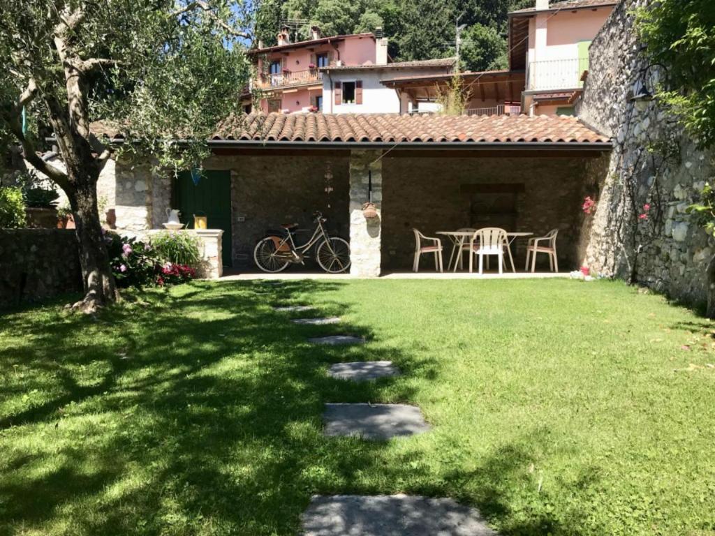 A garden outside Casa Angela