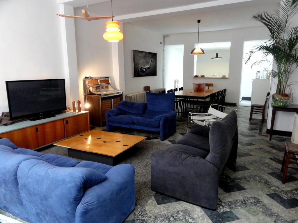Ein Sitzbereich in der Unterkunft Villa Pladijs