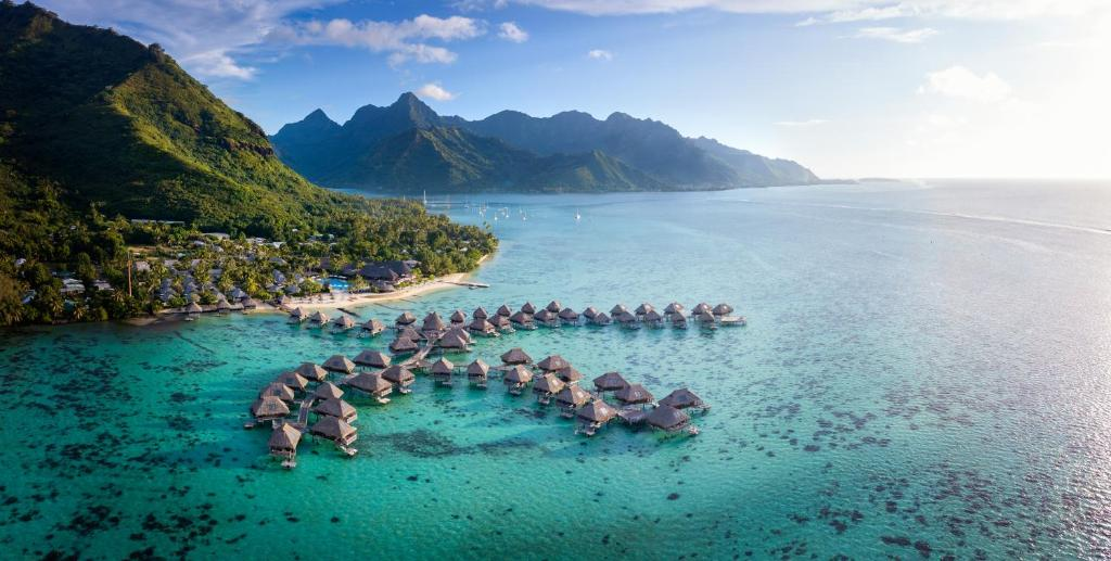A bird's-eye view of Hilton Moorea Lagoon Resort & Spa