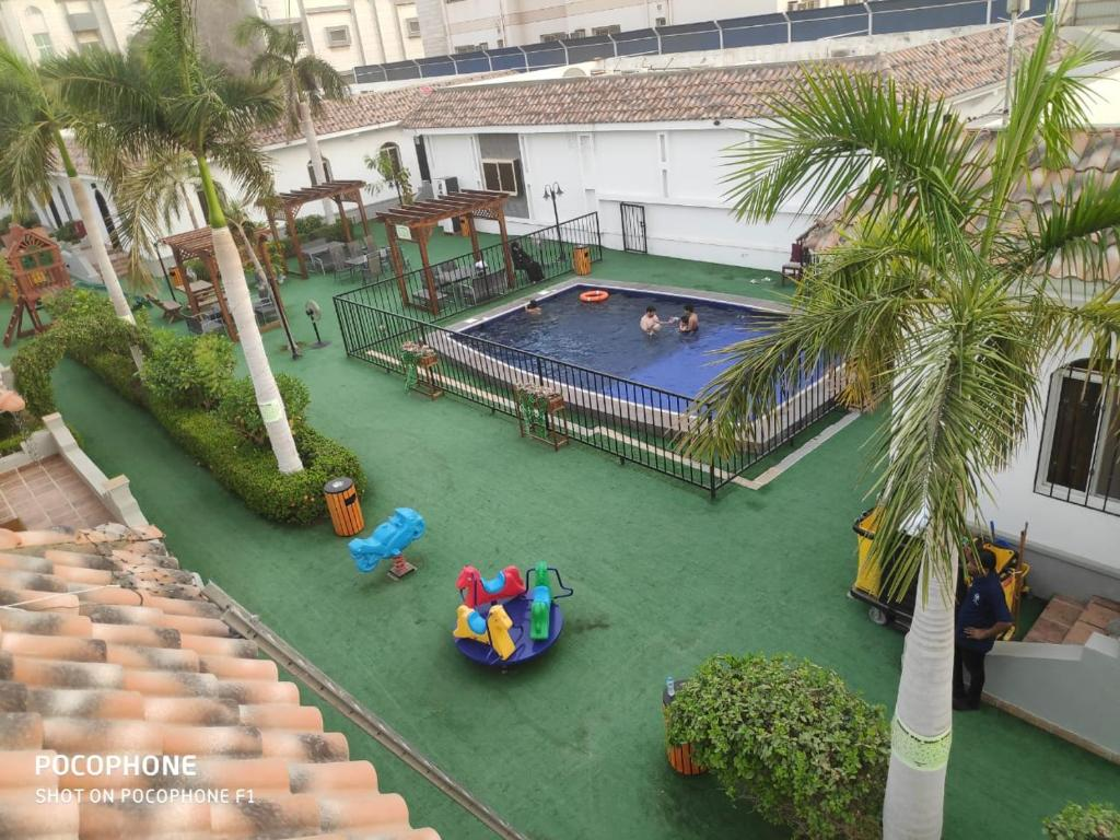 A view of the pool at Jeddah Wakan Villas and Suites or nearby