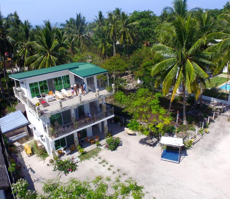 A bird's-eye view of Homaja Beachresort