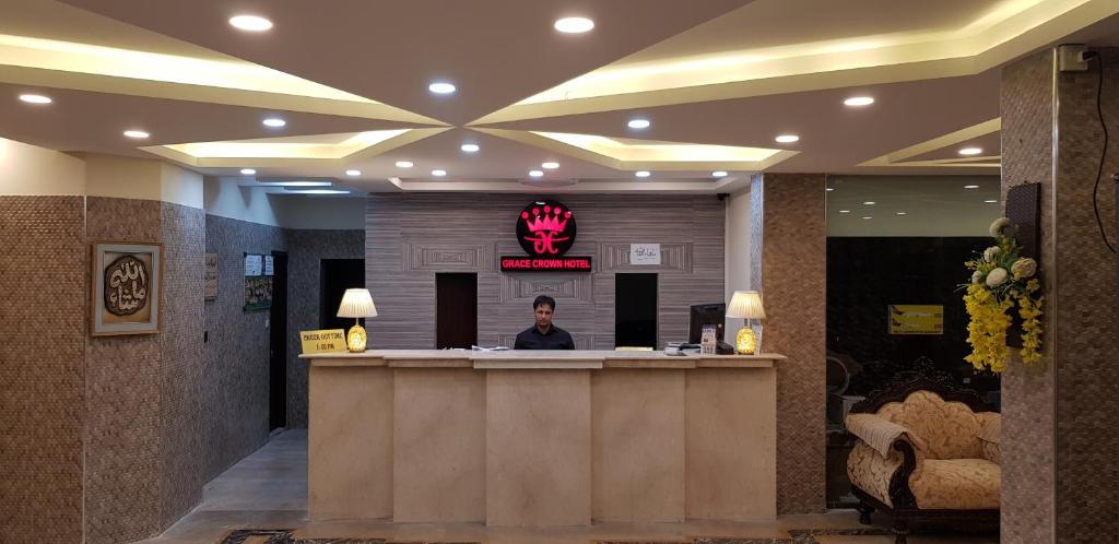 The lobby or reception area at Grace Crown Hotel