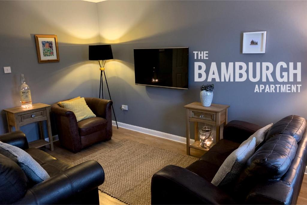 A seating area at The Bamburgh Apartment