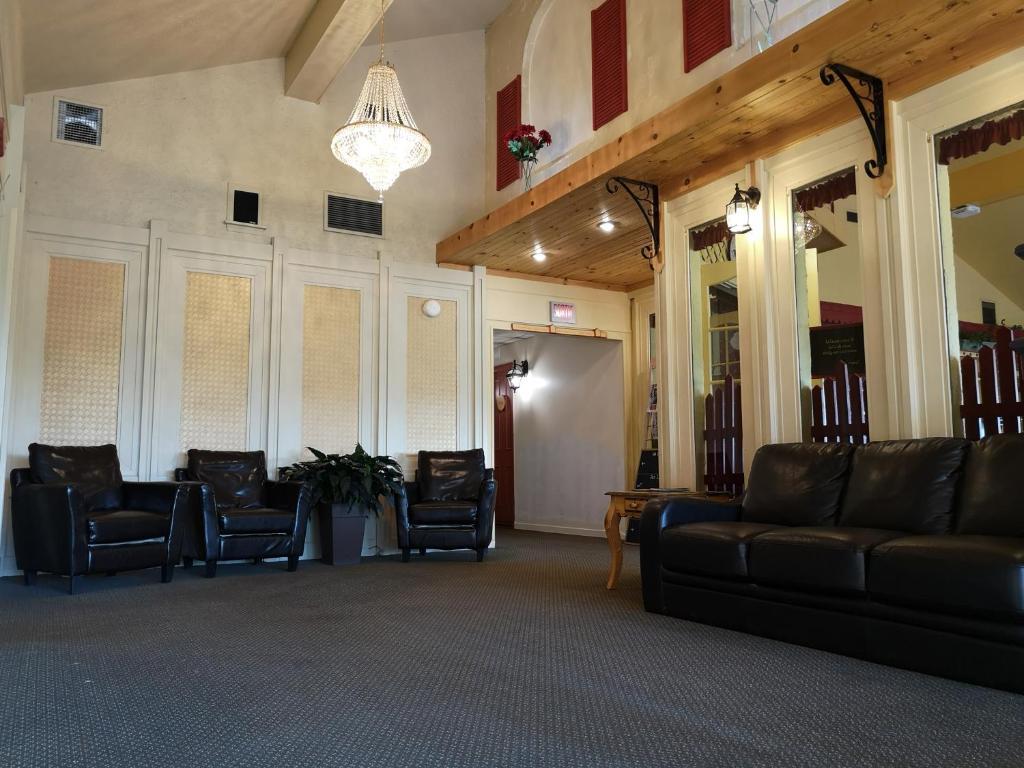 Hall ou réception de l'établissement Hotellerie Jardins de Ville