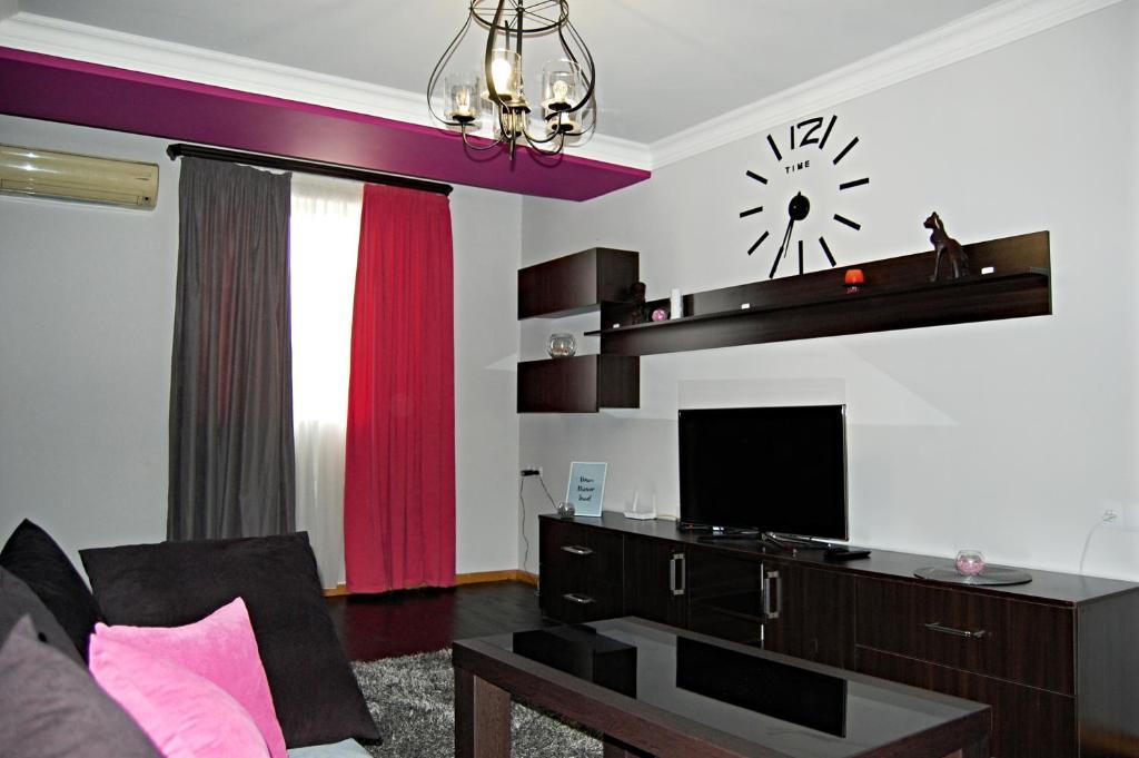 A television and/or entertainment center at Sayat-Nova av. apartment