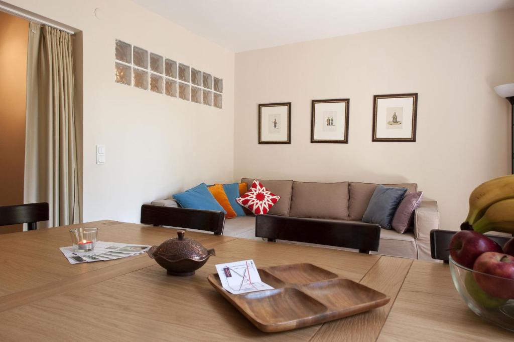 Zona de estar de Aslan Apartments