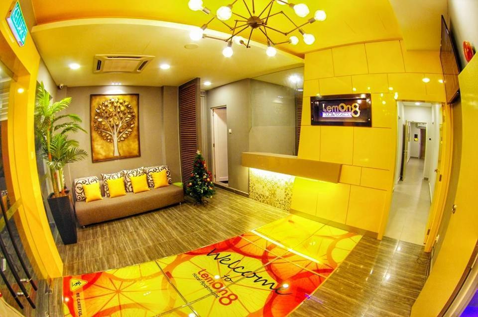 The lobby or reception area at Lemon 8 Boutique Hotel @ Melaka