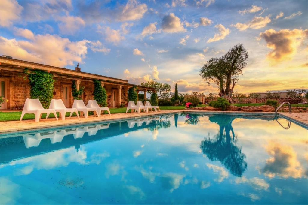 The swimming pool at or near Masseria Sorani