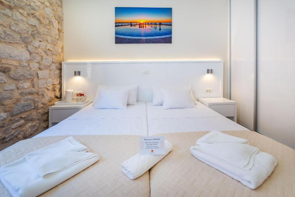 Krevet ili kreveti u jedinici u objektu Idassa Atrium