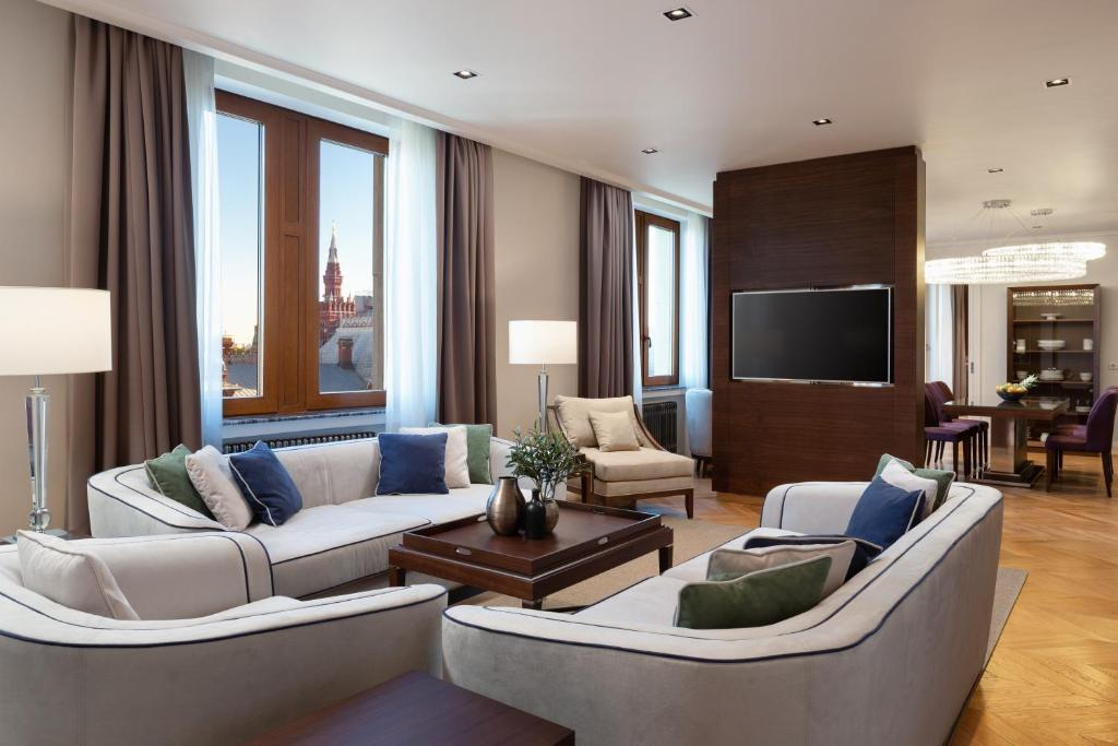 A seating area at Residences Moscow - Serviced Apartments