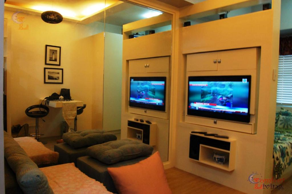 A television and/or entertainment center at Shine Residences