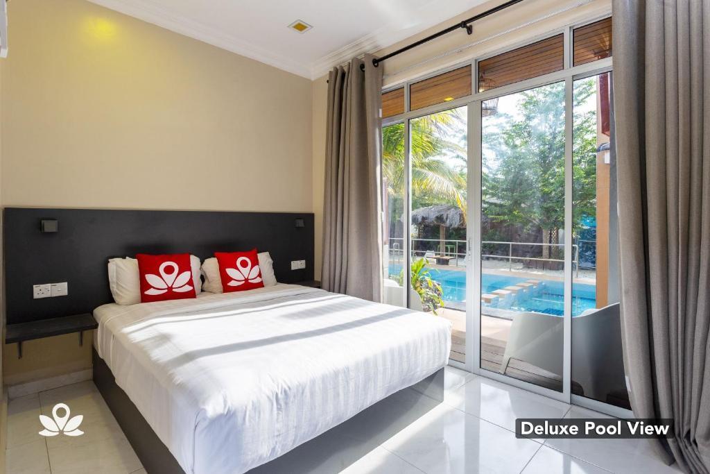 Katil atau katil-katil dalam bilik di ZEN Premium Casa Loma Resort