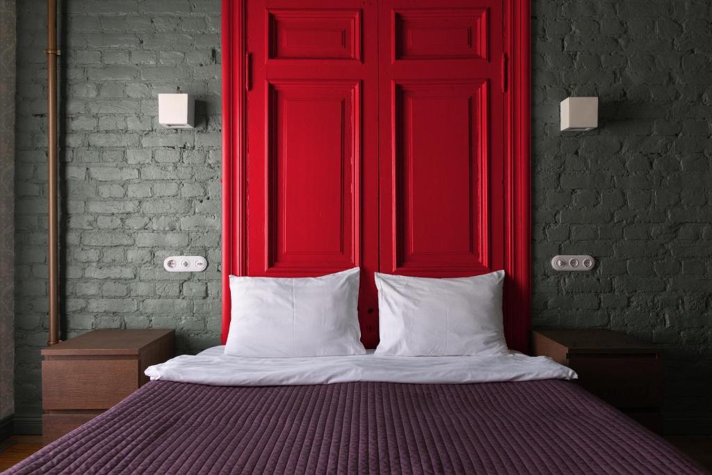 Cama o camas de una habitación en Metropolis Budapest
