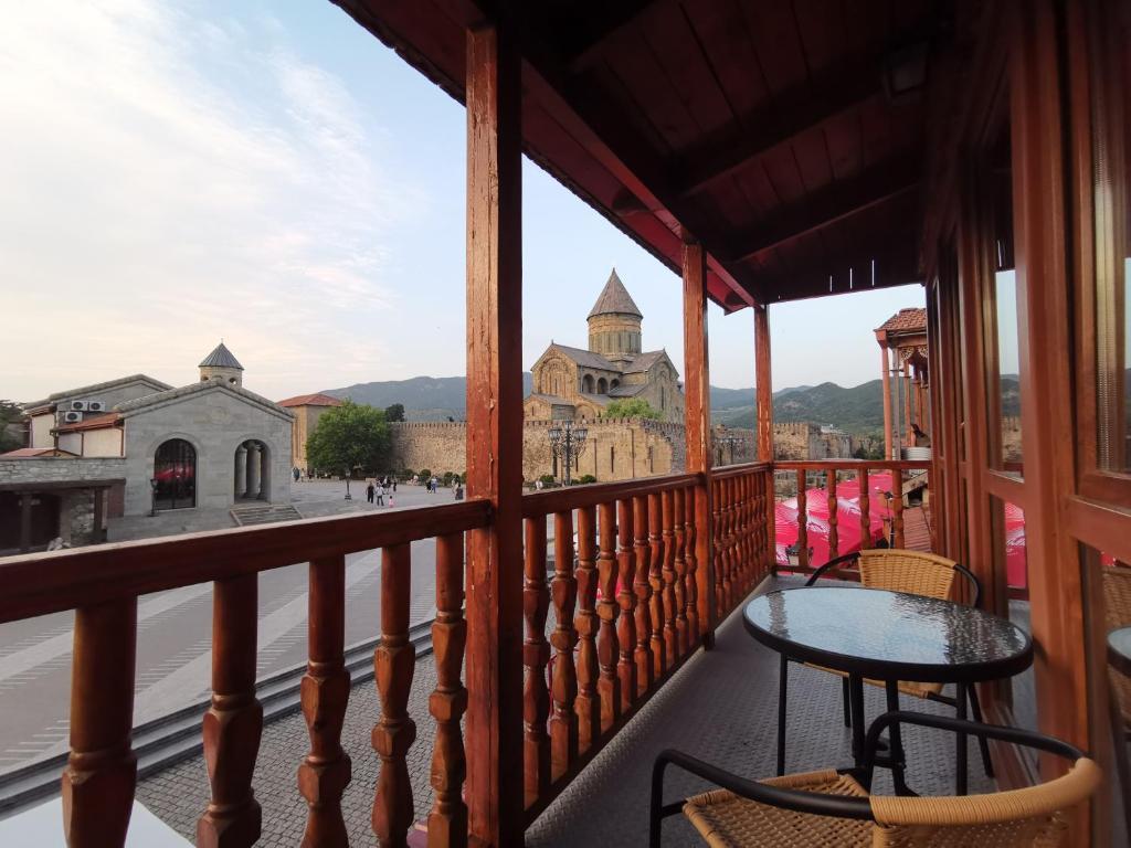 Балкон или терраса в Guest House Armazi