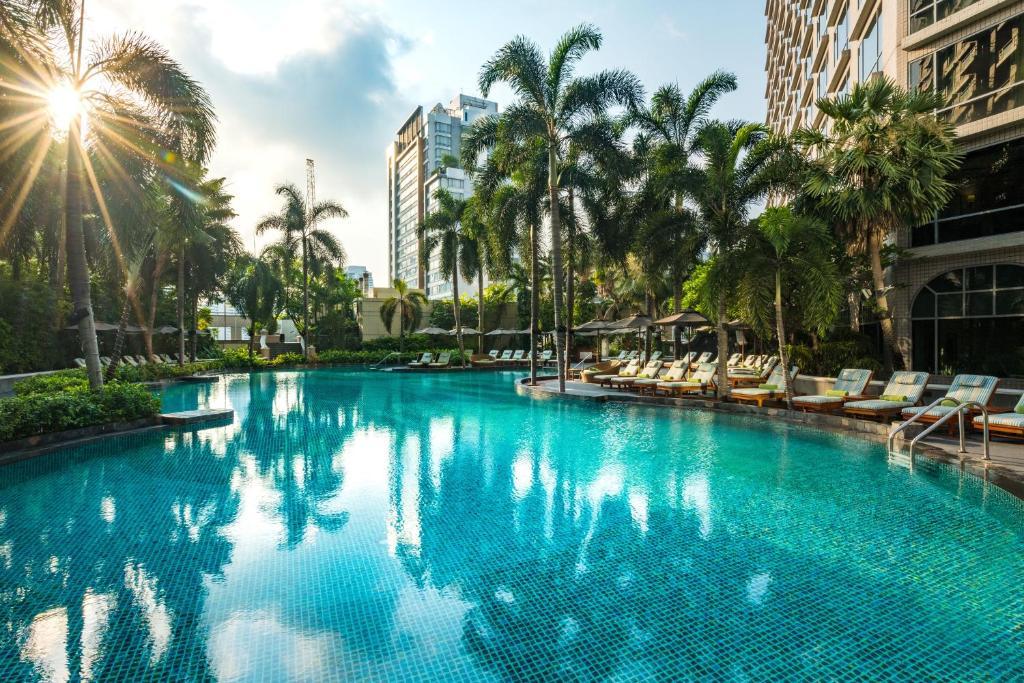 The swimming pool at or near Conrad Bangkok